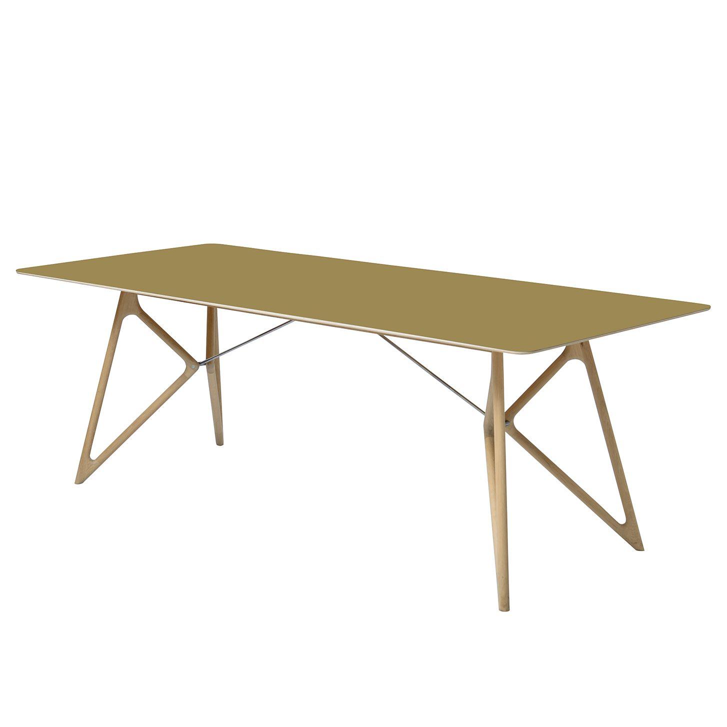 Esstisch tink eiche massiv linoleum olivgr n eiche for Garderobe 220 cm