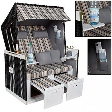 tectake zweisitzer strandkorb premium schutzh lle 2. Black Bedroom Furniture Sets. Home Design Ideas