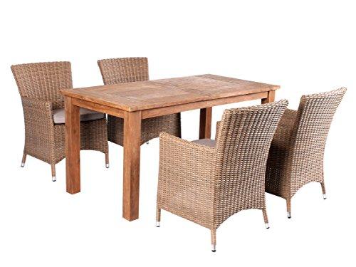 Trendy home24 5tlg essgruppe sitzgruppe 160 x 80 cm for Sessel 80 cm