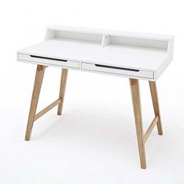 design schreibtisch laptoptisch tif weiss buche 110x58cm. Black Bedroom Furniture Sets. Home Design Ideas