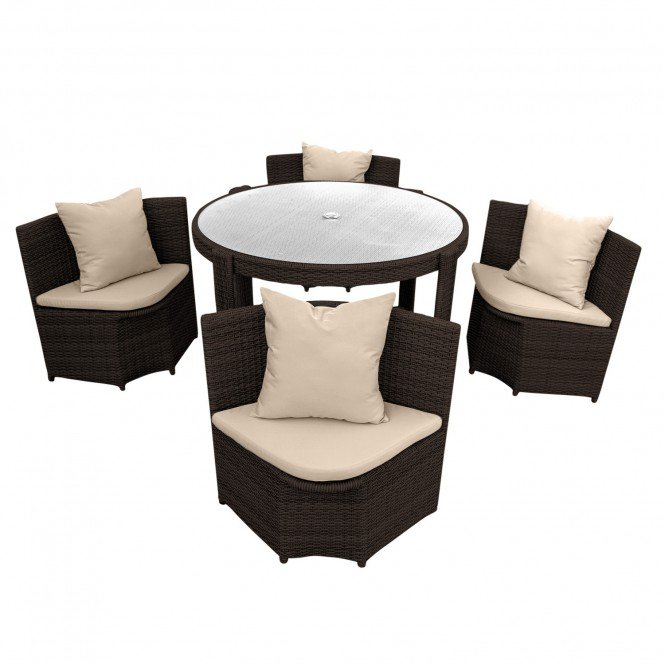 gartenm bel sitzgruppe m bel polyrattan 1 tisch 4 st hle. Black Bedroom Furniture Sets. Home Design Ideas