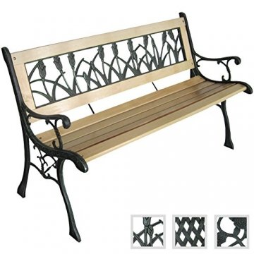 robuste gartenbank sitzbank gartenm bel verschidene designs 122 x 56 x 74cm defactodeal. Black Bedroom Furniture Sets. Home Design Ideas
