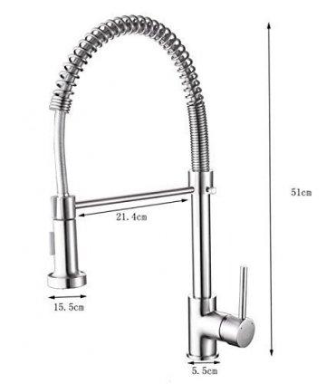Timaco Wasserhahn Küche Einhandmischer Für Küchen Spüle