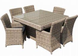 Gartenmöbel polyrattan dining set Tirano